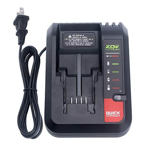 Biswaye PCC692L PCC691L 20V Battery Charger Replacement for Porter-Cable 20V MAX Lithium Battery PCC680L PCC681L PCC685L PCC685LP PCC682L PCC601 Black & Decker 20V Lithium Battery LBXR20 LCS1620B