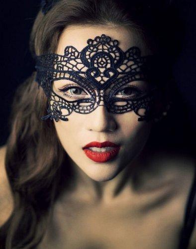 Carnaval mascarade cosplay ornementation traditionnelle Masukera masque Italie V?n?tie dentelle noire (japon importation)
