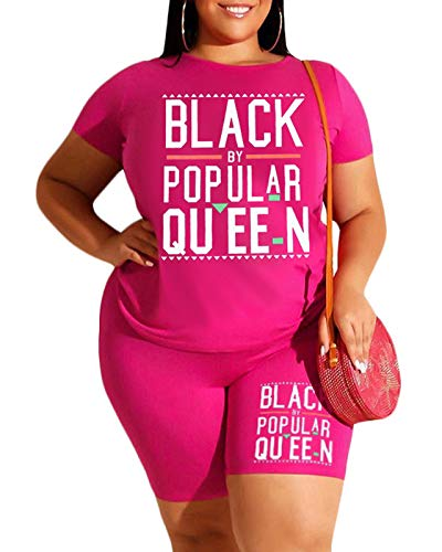Pink Plus Size Summer Outfits Women Tracksuit T Shirt Bodycon Shorts Jogger Set Rompers Sportswear 3X