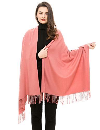 REEMONDE Damen Pashmina-Schal, superweich, Kaschmir-Mischung Gr. Einheitsgröße, lachsfarben