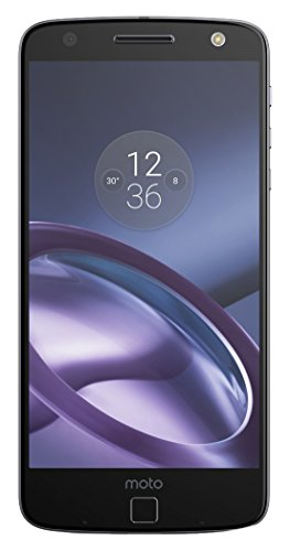 Motorola Moto Z, Unlocked 5.5 smartphone (Bluetooth, Qualcomm Snapdragon Processor 820, 4 GB RAM, 32 GB, 13 Megapixel Camera, Android 6).