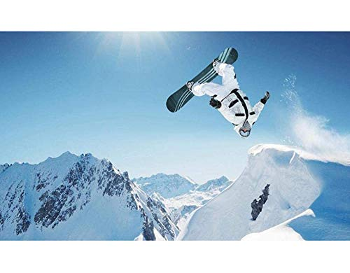 Paint By Numbers Kits Diy Olieverfschilderij Color Talk Home Wall Decor Voor Volwassenen Beginner Kids - Extreme Snowboarden 40X50Cm Frameloos