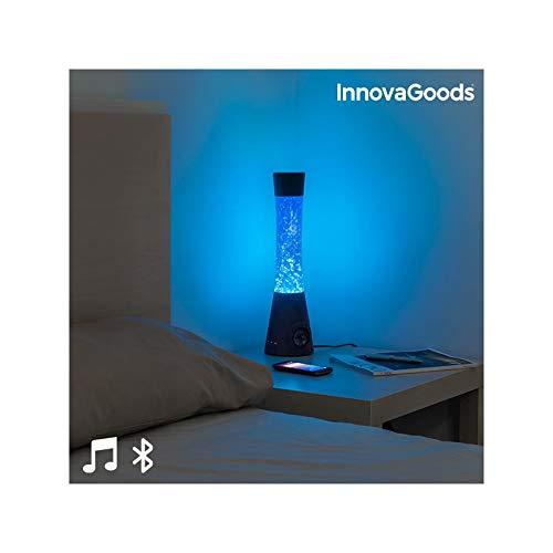 InnovaGoods Lavalampe mit Bluetooth-Lautsprecher und Mikrofon 30 W, Schwarz und Blau