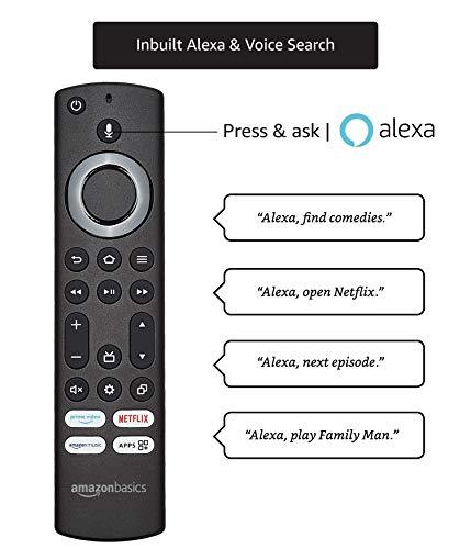 AmazonBasics 127cm (50 inch) 4K Ultra HD Smart LED Fire TV AB50U20PS (Black) 4