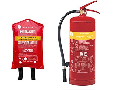 Set: estintore in schiuma estintore, 3 litri, classe antincendio AB + coperta estintore.