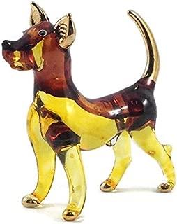 Tiny Crystal Dog Hand Blown Clear Glass Art Dog Figurine Animals Collection Glass Blown FBM