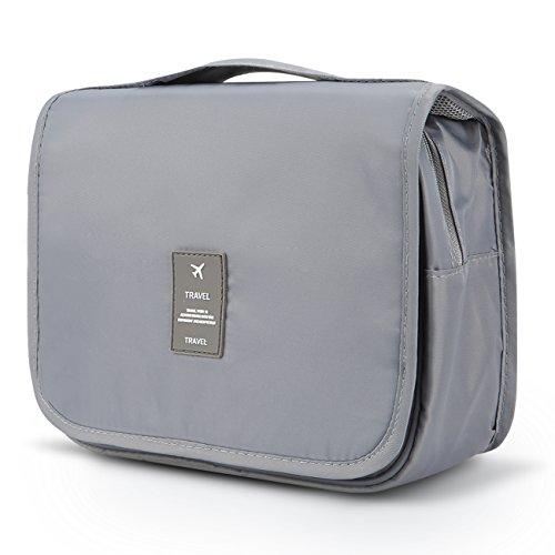 Toiletry Organizer,Mossio Large Capacity Suitcase Luggage Portable Dopp Kit Wash Bag Grey