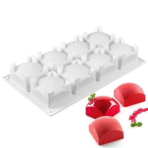Haijun 8 Cavités Moule En Silicone Forme Carree Silicone Chocolat Bonbon Gâteau Truffe Mini-gâteau De Thé Sucette