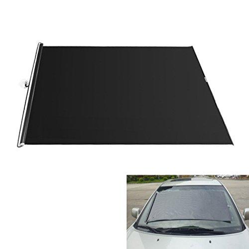 JenNiFer 130Cm Schwarz Einziehbare PVC Sonnenschirm Roller Car Vorhang Fenster Schatten Schutz - 58