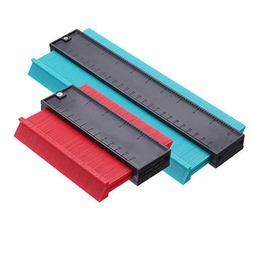 OUTERDO Contour Gauge, Duplikator Profilmessgerät Contour Ruler Messwerkzeug Kopierduplikator für unregelmäßige Formen Präzise Messung Holzbearbeitungswerkzeug 2 Packungen