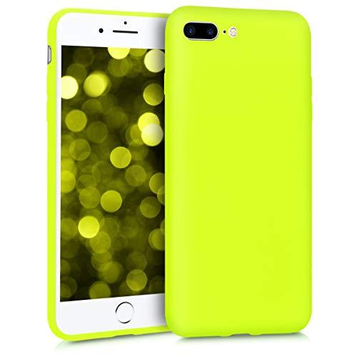 kwmobile Cover Compatibile con Apple iPhone 7 Plus / 8 Plus - Custodia in Silicone TPU - Backcover Protezione Posteriore- Giallo Fluorescente