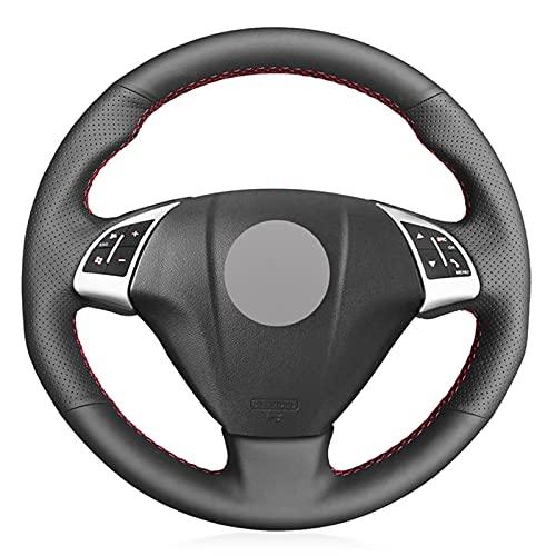 XLZWRJ Cubierta del Volante del Coche de Cuero Negro DIY Cosida a Mano, Apta para Fiat Punto Bravo Linea 2007-2019 Qubo Doblo 2008-2015 Grande Punto