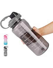 Water Bottle 2L/ Large Sports Bottle with Time Marker
