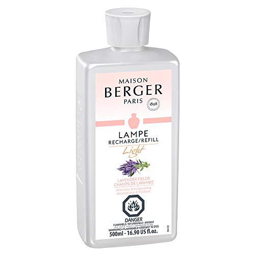 MAISON BERGER Light Lavender Field Lampe Berger Refill for Home Fragrance Oil Diffuser, 16.9 Fluid Ounces-500 milliliters