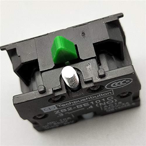 CROSYO 22mm 1pc momentáneo XB2-BW3361 Ronda Interruptor de botón con luz LED 1 NA 24V / AC220V / AC380V Verde, Rojo, Amarillo, Azul ZB2-BE101C (Color : Gris Oscuro, tamaño : 380V)