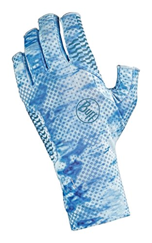 BUFF Unisex Aqua Handschuhe, Pelagic Camo Blue, L