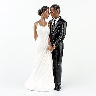 22f07299aa0 Zehui Resin African American Wedding Figurine Decoration 6.30 inch Wedding  Cake Toppers