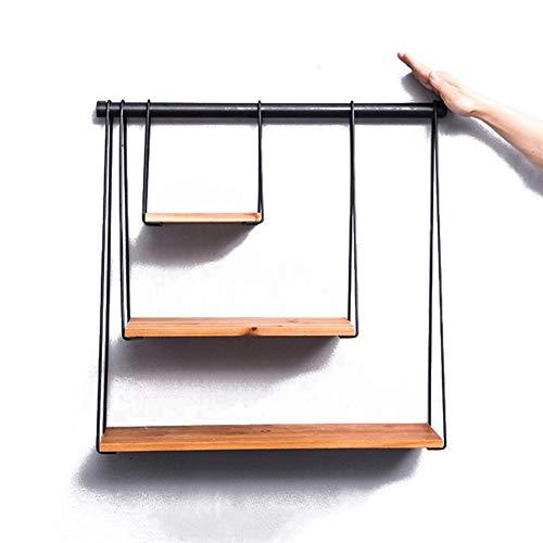 Wohnwände Retro Eisen Kunst Kreative Wand Dekorative Bücherregal Industriellen Modernen Rack for Wohnzimmer Schlafzimmer Stabiles Lagerregal