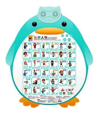 【MEWBEL】 子供向け中国語教材 英語も学べる 押すだけ簡単 おしゃべり機能付き 壁掛け