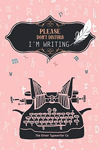 Please don t disturb I m writing: quaderno; notebook; libro di scrittura; diario, notepad; quaderno per appunti; sketchbook