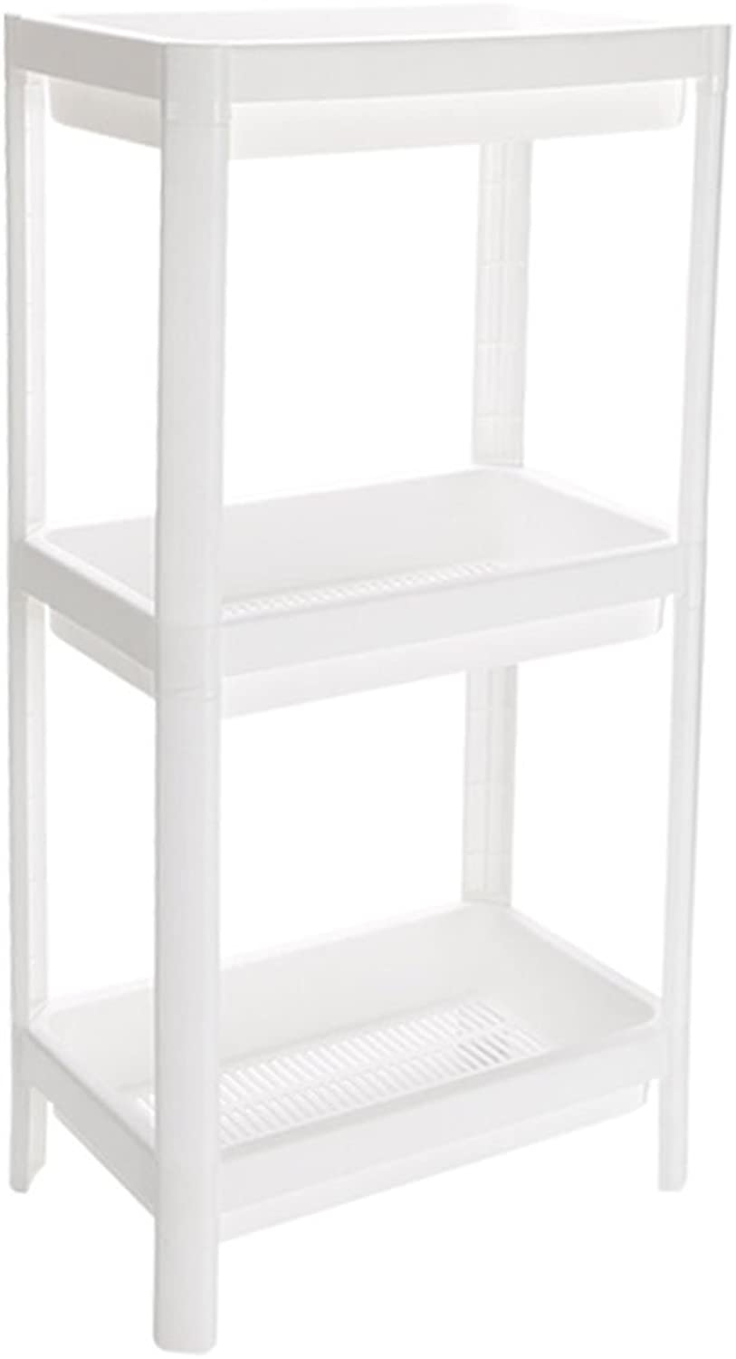 Kitchenware Racks Storage Tower 23cm Wide Kitchen Supplies Crevice Storage Rack Multilayer Bathroom Floor Storage Basket White Plastic Material Breathable (Size   3 Layers)