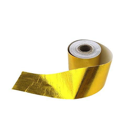 10m x 5cm Hitzeschutz Band selbstklebend Gold Tape Klebeband bis zu 450°C