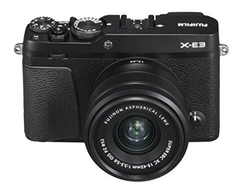 Fujifilm X-E3 Black Fotocamera Digitale 24MP con Obiettivo XC15-45mmF3.5-5.6 OIS PZ, Sensore CMOS X-Trans III APS-C, Mirino EVF, Schermo LCD Touchscreen 3
