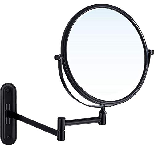 Gecious Wall Mounted Makeup Mirror Double Sided with 10X Magnification, Double-Sided Swivel -