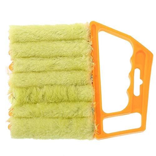 Window Venetian 7 Finger dust Removal and Cleaning Tool 2-Piece Set Mini Blind Duster Brush Dust Clean Venetian Blind Brush Window Air Conditioner Duster Dirt Cleaner Housework Tool, Washable