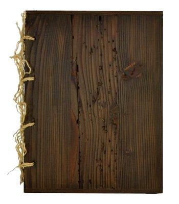 Speisekarte Holz Karte Edel Menu-Karte A4 Restaurant Pub Dunkelbraun Holzwurmoptik 019
