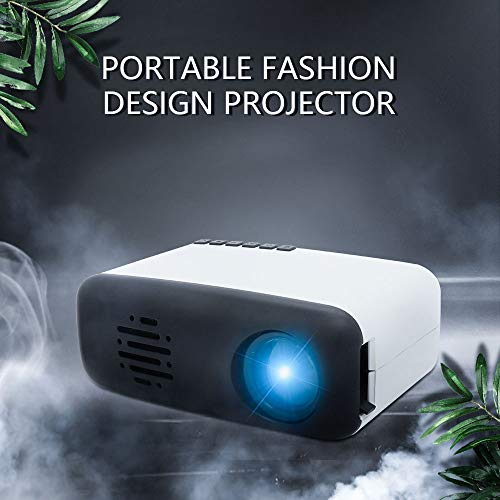 Mini Video Movie Projector,iRULU Portable Home Theater Palm Size Projector with HDMI AV Headphone for Kids Children Education (Black, Siz2)