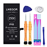 LIKEGOR 2500mAh Battery for iPhone 6S, Replacement Model A1633 A1688 A1700 with Complete Tool Kits and Instruction (for iP6S Only)