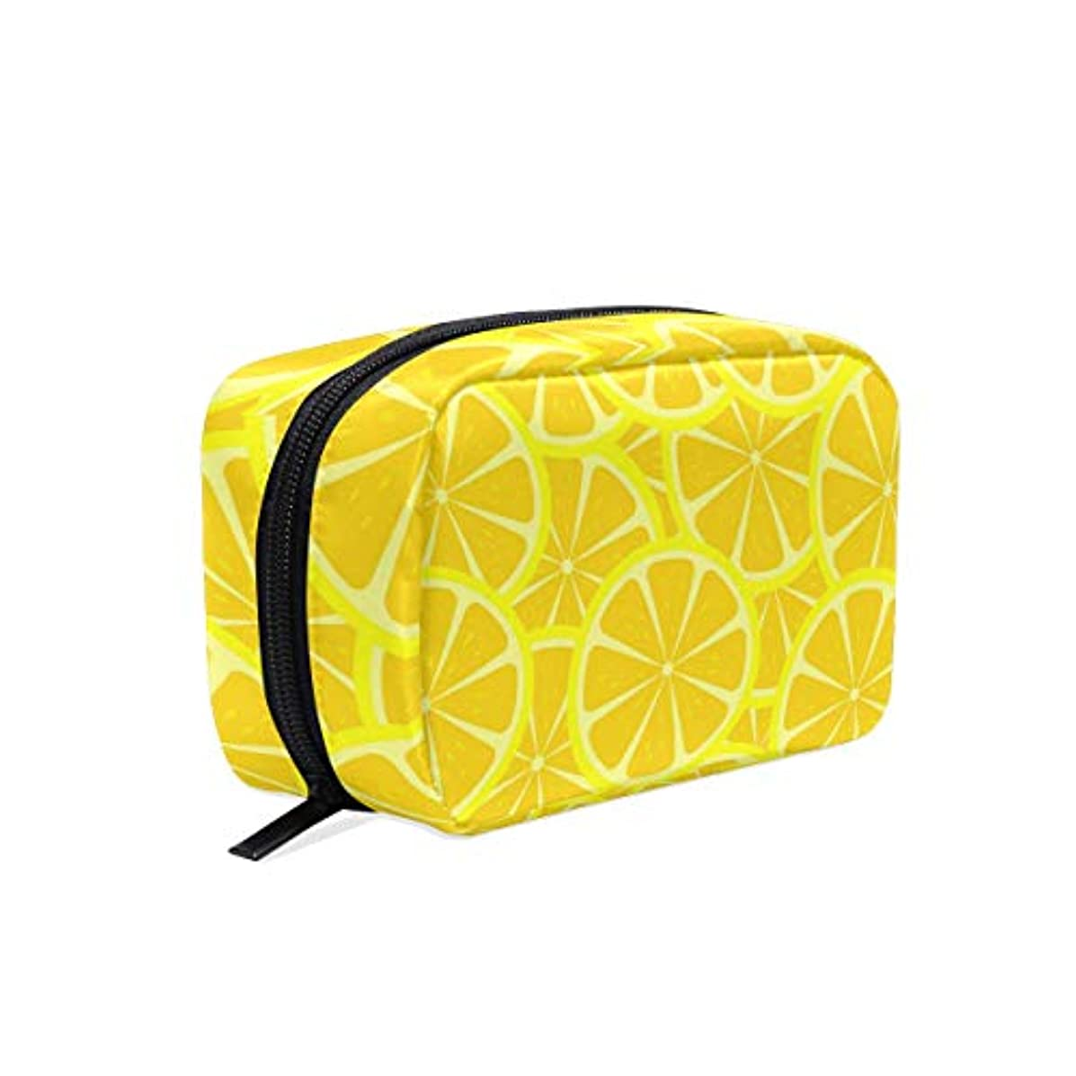Fantastic Lemon Slice Cosmetic Bag Toiletry Storage Bag Travel Bag for Brushes Jewelry Accessories Collection