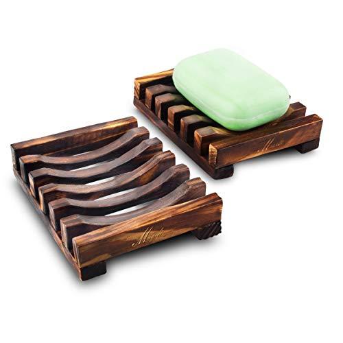 Magift Zeepbakje van natuurhout, 2 stuks