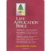 Holy Bible: Life Application Bible/New International Version/Black Bonded Leather【洋書】 [並行輸入品]