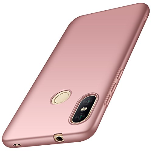 Funda Xiaomi Mi A2 Lite, Anccer Ultra Slim Anti-Rasguño y Resistente Huellas Dactilares Totalmente Protectora Caso de Duro Cover Case para Xiaomi Mi A2 Lite (Oro Rosa Liso)