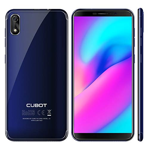 Cubot J3 Dual-SIM Smartphone (12,63 cm (5 Zoll) Full-Wide VGA TN Touch-Display,1GB RAM 16GB ROM, Android 8.1 (Go Edition) Handy Ohne Vertrag, Face ID, GPS/A-GPS) (Blau)
