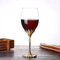 YYW ワイングラス 赤ワイン用 おしゃれ クリスタルワイングラス シャンパングラス ブルゴーニュ 高級感溢れたプレゼント ワインカップ ハンドメイド ギフト (1点)