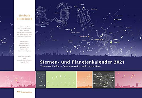 Sternen- und Planetenkalender 2021: Broschurenkalender