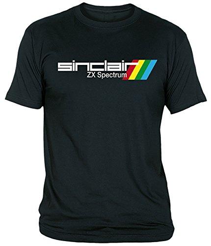 Desconocido Camiseta Sinclair ZX Spectrum Adulto/niño EGB ochenteras 80´s Retro (5-6 años, Negro)