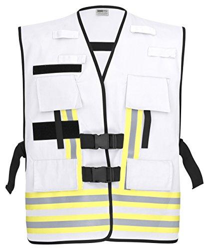 PACOTEX Funktionswesten zur Kennzeichnung von Einsatzpersonal wie z.B. Feuerwehr Warnweste (weiß)