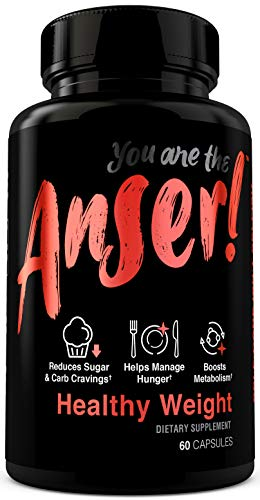 Anser Healthy Weight - Weight Loss Supplement Pills for Women & Men - Appetite Suppressant & Metabolism Booster - Supports Reduction in Sugar & Carb Cravings - 30 Servings by Tia Mowry 1