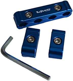 3pc piece BLUE Billet Aluminum Spark Plug Cables Separators Dividers Organizers Holders Kit Set for MSD Ignition Magnecor Taylor Accel Moroso Revtech GM Performance DUI Ultra Ice BBM Scott Flame Thrower Screaming Eagle Wires