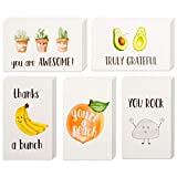 40 Funny Thank You Cards, 4 x 6 in Pun Greeting Note Cards w/ Envelopes & Stickers, Bulk Boxed Set Assortment of Fun Notecards, Great for Gratitude, Employee Recognition & Appreciation