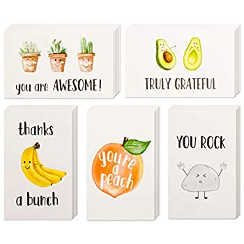 40 Funny Thank You Cards 4 x 6 in Pun Greeting Note Cards w/ Envelopes & Stickers Bulk Boxed Set Assortment of Fun Notecards Great for Gratitude Employee Recognition & Appreciation