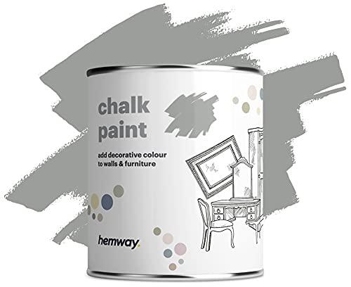 Hemway Dove Grey Chalk Paint Matt Finish Wall and Furniture Paint 1L /...