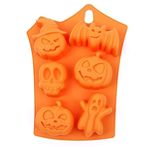 Kentop Halloween Silikonform Zum Backen und Basteln Fledermaus und Kürbisform für Kuchen Muffins Handgefertigte Kekse Schokolade