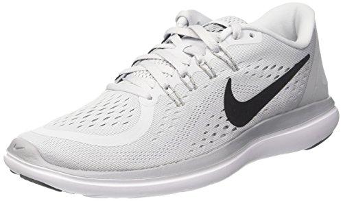 Nike Men's Flex 2017 RN Running, Running, Grey/Black/Volt, 8.5 US M