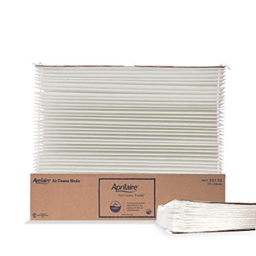 Aprilaire 201 Replacement Filter for Aprilaire Whole House Air Purifier Models: 2200, 2250, Space Gard 2200, MERV 10 (Pack of 2)