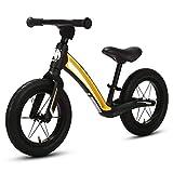 elvent® BalanceGo Kinder Sport Laufrad Lernlaufrad 12 Zoll für Asphalt Gelände, für Mädchen Jungen ab 1 Jahren, Luftreifen, Qualität Magnesiumrahmen, Sattel höhenverstellbar (Schwarz)